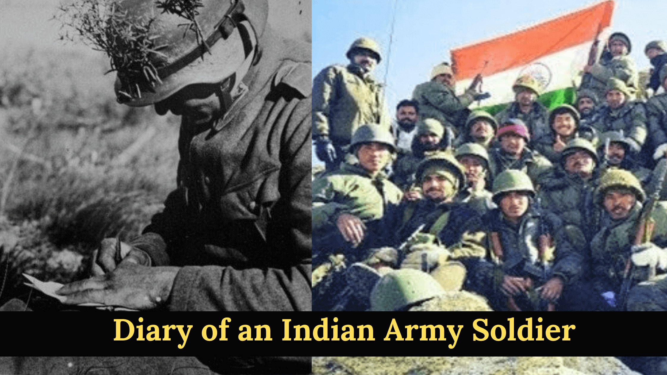 diary of indian army soldier