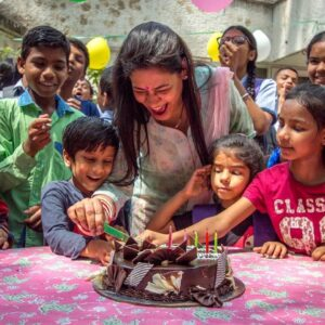 Birthday celebration at an orphanage supported by Wishes and Blessings