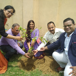 Environmentalist Bhavisha Buddhadeo planting a sapling